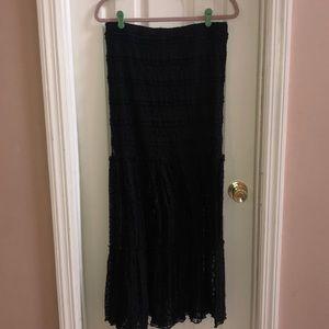 Black lace sheer skirt
